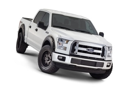 Bushwacker - 20935-02 - F-150 Pocket Style Fender Flares Black Smooth 4pc Front & Rear (15-17)