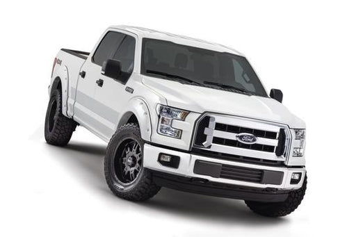 Bushwacker - 20945-12 - F-150 Max Coverage Pocket Style Fender Flares Oxford White 4pc (15-17)