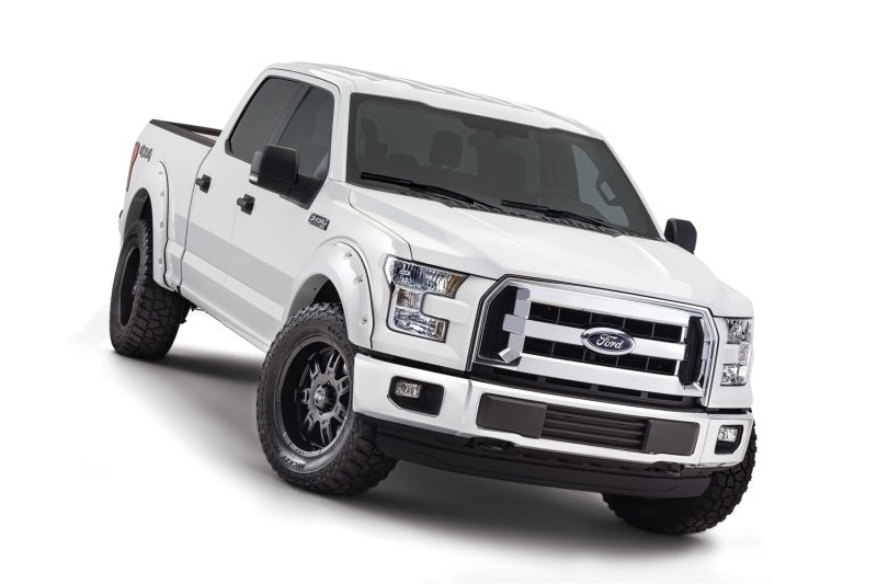 Bushwacker - 20945-12 - F-150 Pocket Style Fender Flares Oxford White 4pc Front & Rear (18+)