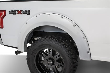 Bushwacker - 20935-12 - F-150 Pocket Style Fender Flares Oxford White 4pc Front & Rear (15-17)
