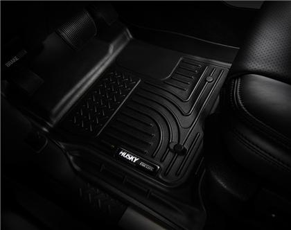 Husky Liners - 19371 - F150 SuperCrew WeatherBeater Full Coverage 2nd Seat Rear Floor Liner Black (15-19)