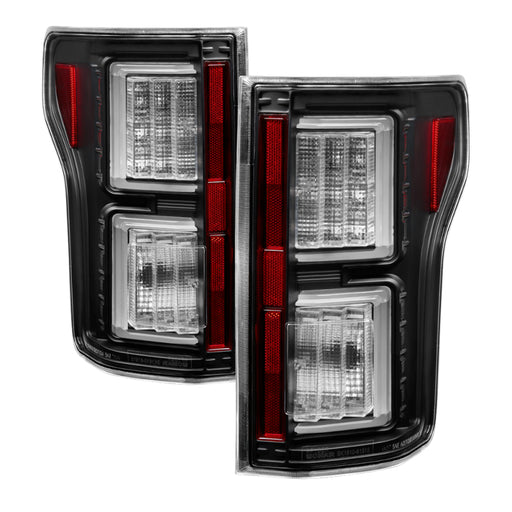 Spyder - 5083487 - Ford F150 Light Bar LED Tail Lights Black (15-17)