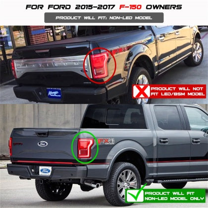 Spyder - 5083692 - Ford F150 Light Bar LED Tail Lights Red Clear (15-17)