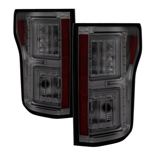 Spyder - 5083708 - Ford F150 Light Bar LED Tail Lights Smoke (15-17)