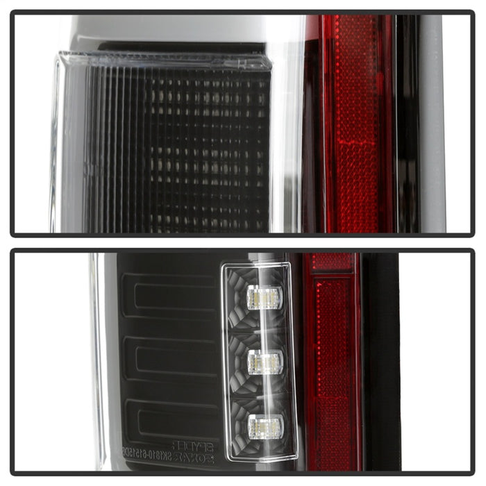 Spyder - 5085313 - Ford F-150 & Raptor Light Bar LED Tail Lights Black (15-17)