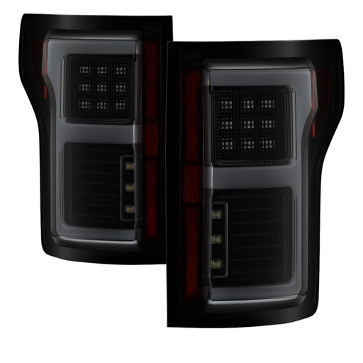 Spyder - 5085337 - Ford F150 LED Tail Lights (w/Blind Spot) - Black (15-18)