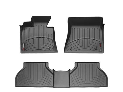 WeatherTech - 44697-1-3 - F-150 Front and Rear Bench Seat FloorLiners - Black (SuperCrew / SuperCab 15-19)