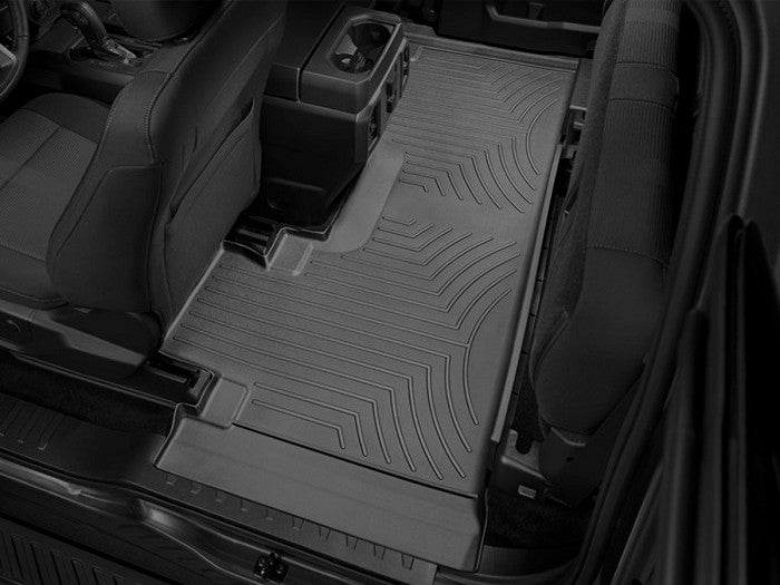 WeatherTech - 446973 - F-150 Rear Bench Seat FloorLiners - Black (SuperCab 15-19)