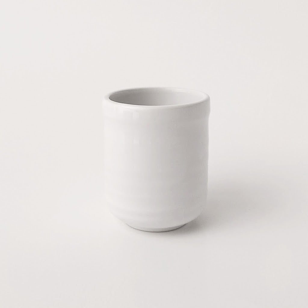White Yunomi Japanese Teacup