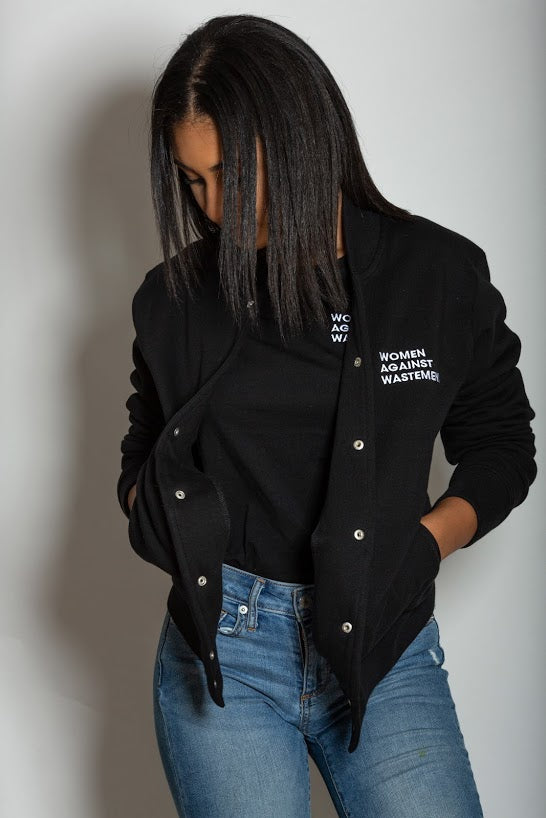 Women Against Wastemen  Baseball Jacket