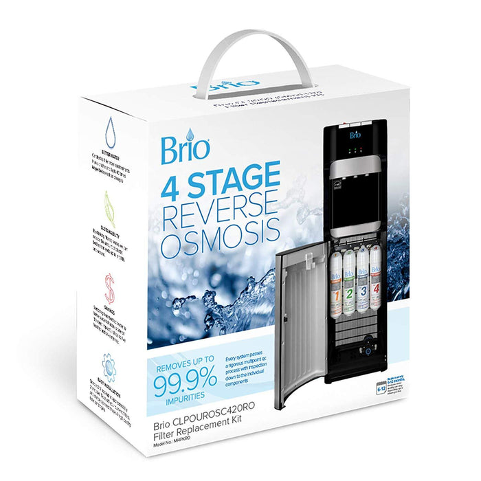 Brio 4 Stage RO Water Cooler Filter Replacement Kit - for Models CLPOUROSC420RO and CLPOURO420SCV2