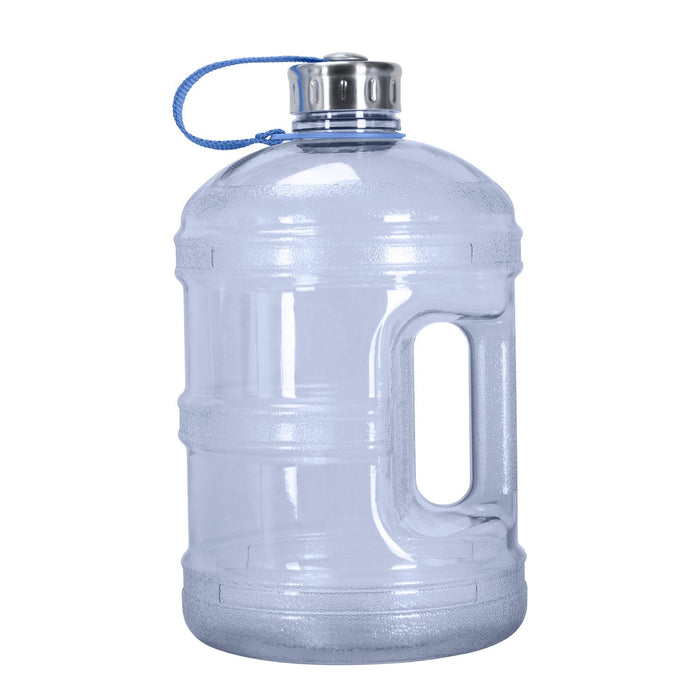 BPA Free 1 Gallon Water Bottle, Plastic Bottle, Sports Bottle, with Stainless Steel Screw Cap, GEO