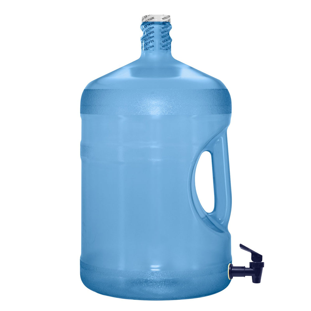 5 Gallon BPA Free Reusable Plastic Water Bottle with Screw Cap and Valve