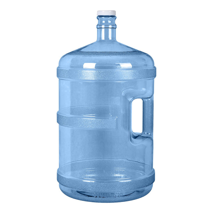 5 Gallon Polycarbonate Plastic Reusable Water Bottle with Handle and Screw Cap
