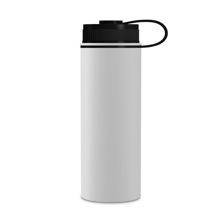 18 Ounce Stainless Steel Water Bottle, Sports Bottle, with Double Wall, GEO