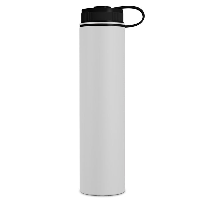 25 Ounce Stainless Steel Water Bottle, Sports Bottle, with Wide Open Mouth and Double Wall, GEO