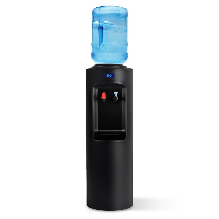 Hot and Cold Water Dispenser Cooler Top Load, Black, Brio Essential