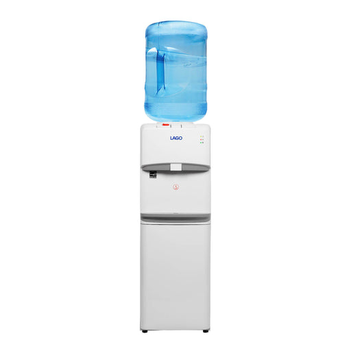 Hot Cold and Room Temp Water Dispenser Cooler Top Load, Tri Temp, White, Lago