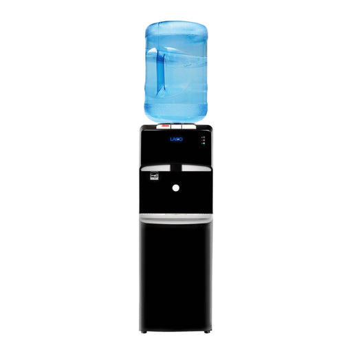 Hot Cold and Room Temp Water Dispenser Cooler Top Load, Tri Temp, Black, Lago