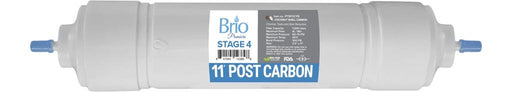 "Brio Premier 11"" Inline Straight-Type Coconut Shell G.A.C Filter 5 Micron"