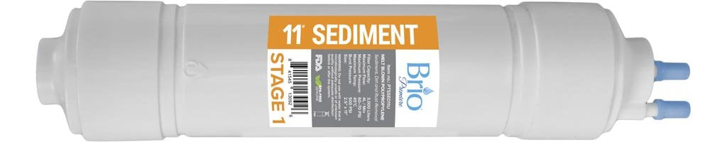 "Brio 2.5"" x 11"" U-Type Sediment Replacement Filter w/ 1,200 ml capacity"