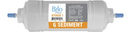 "Brio Premier 6"" Straight-Type, Sediment Filter 5 Micron"