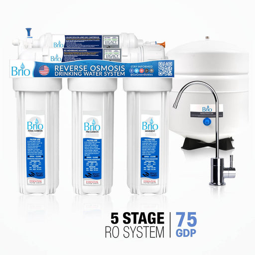 5 Stage Reverse Osmosis Water Filter System, RO, Brio Essential