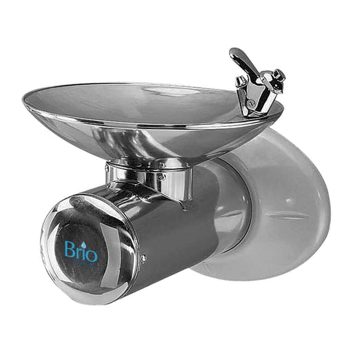 Wall Mounted Room Temp Water Fountain, Stainless Steel, Brio Premiere