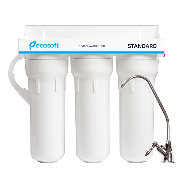 3 Stage Drinking Water Filter System, Ecosoft Standard