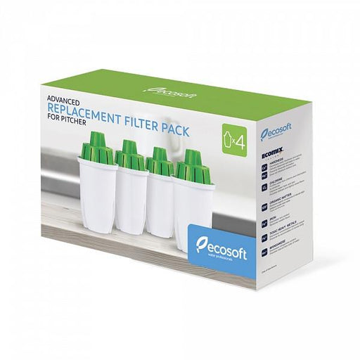 Pack of 4 Replacement Filters for Ecosoft LUNA AND MAXIMA Pitchers