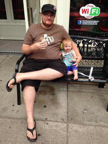 Daughter and I eating ice cream in Stillwater, MN