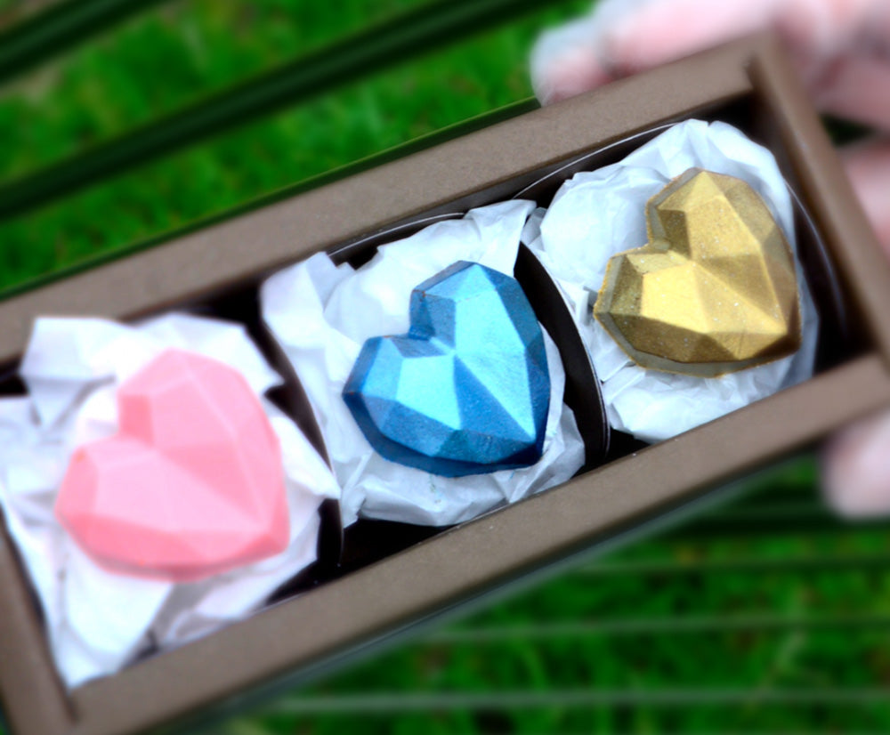 Acetate mold - Faceted heart | BWB