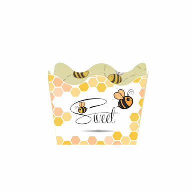 Cachepot truffle holders - Bee theme - 24 pcs | Duster Festas