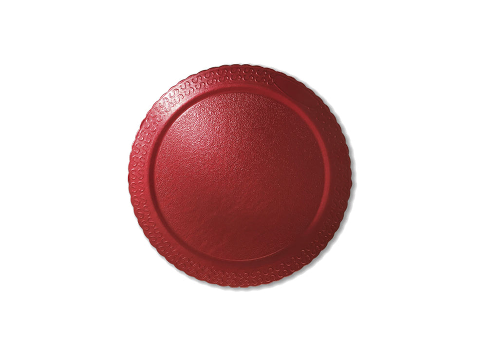"Cake board, moisture resistant - round 11"" - Red 