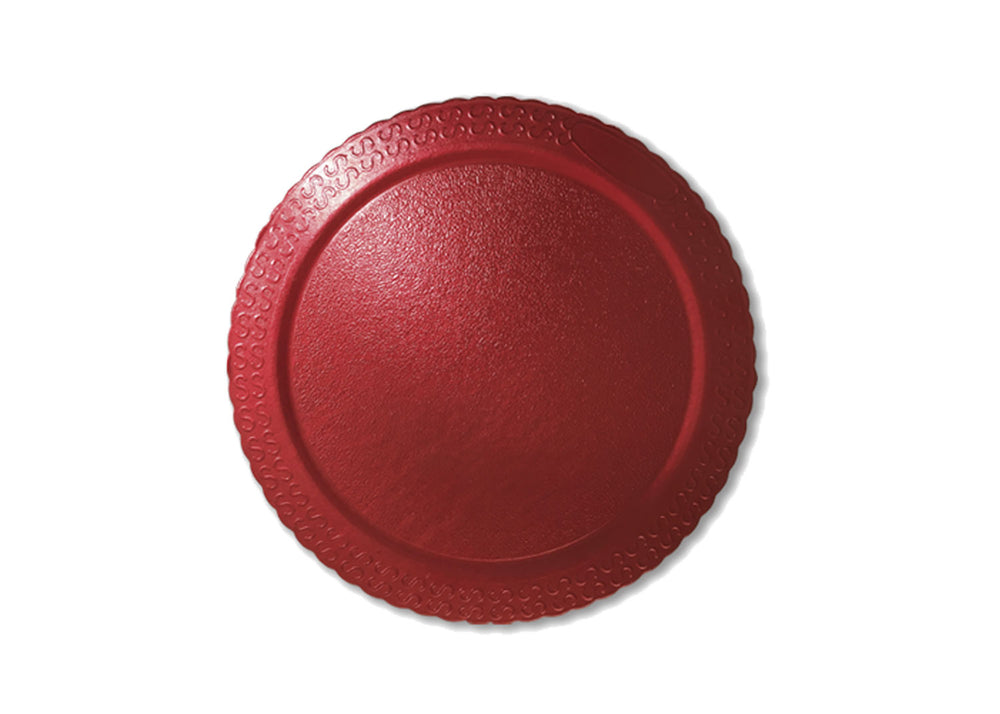 "Cake board, moisture resistant - round 12.6"" - Red 