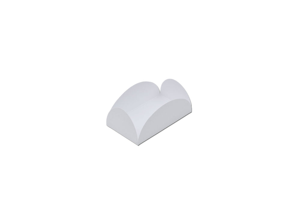 Camafeu four petals truffle holder - White - 40 pcs | Ultrafest