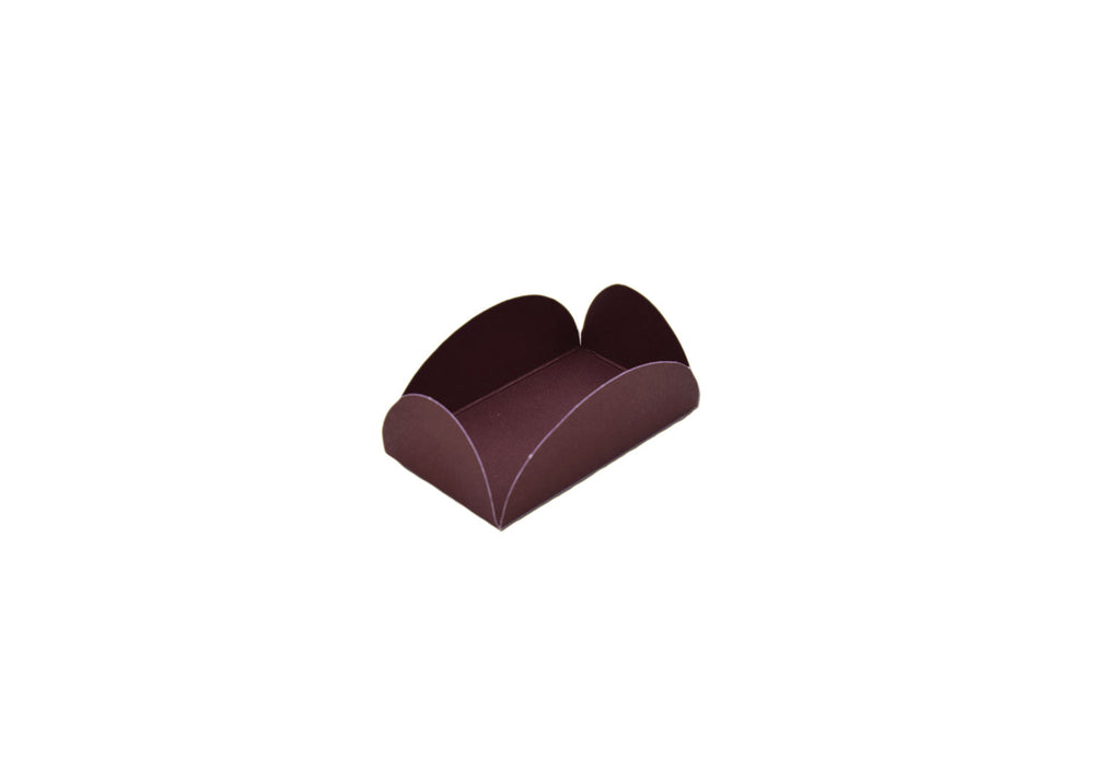 Camafeu four petals truffle holder - Brown - 40 pcs | Ultrafest
