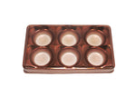 Candy box - 6 cavities - Metallic brown - 10 pcs | Flip Festas