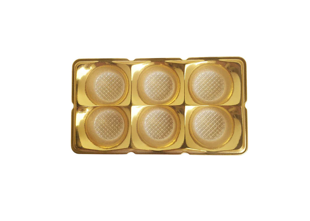 Candy box - 6 cavities - Metallic gold - 10 pcs | Flip Festas