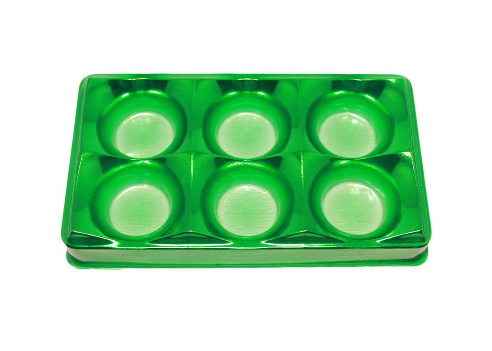 Candy box - 6 cavities - Metallic green - 10 pcs | Flip Festas