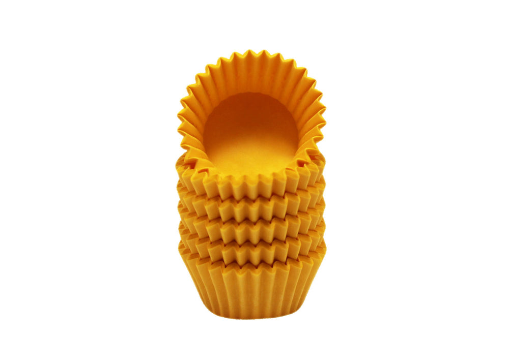 Candy cups, easy peel - Size 4 - Yellow | Ultrafest