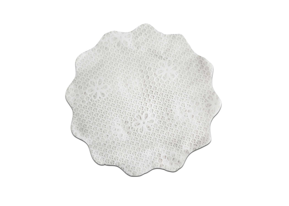 Cellophane sheets - 7cm - 100pcs - White Lace Print