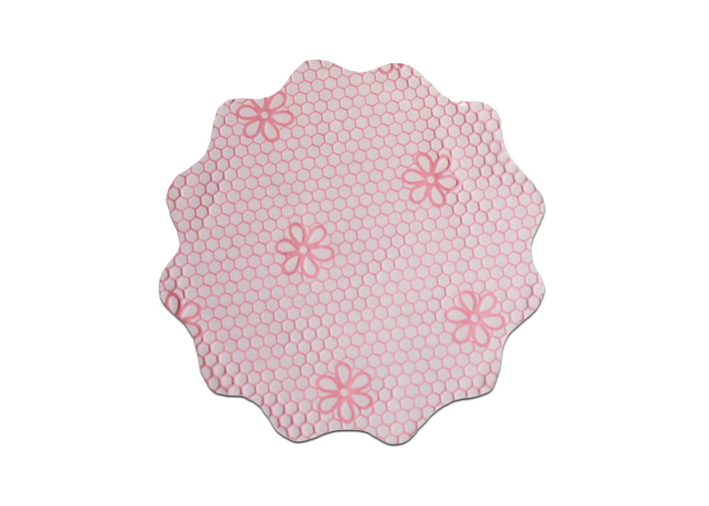 Cellophane sheets - 9cm - 100pcs - Lace print