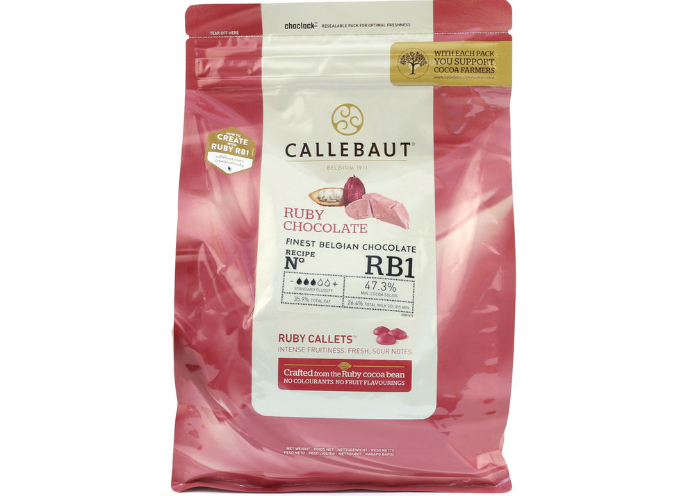 Ruby Chocolate Couverture - 500g | Callebaut