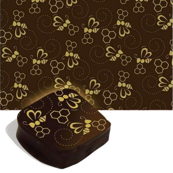 Chocolate Transfer Sheet - Bee & Honey - 1 pc