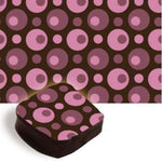 Chocolate Transfer Sheet - Burgundy and Pink Circles - 1 pc