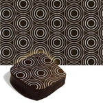 Chocolate Transfer Sheet - White Circles - 1 pc