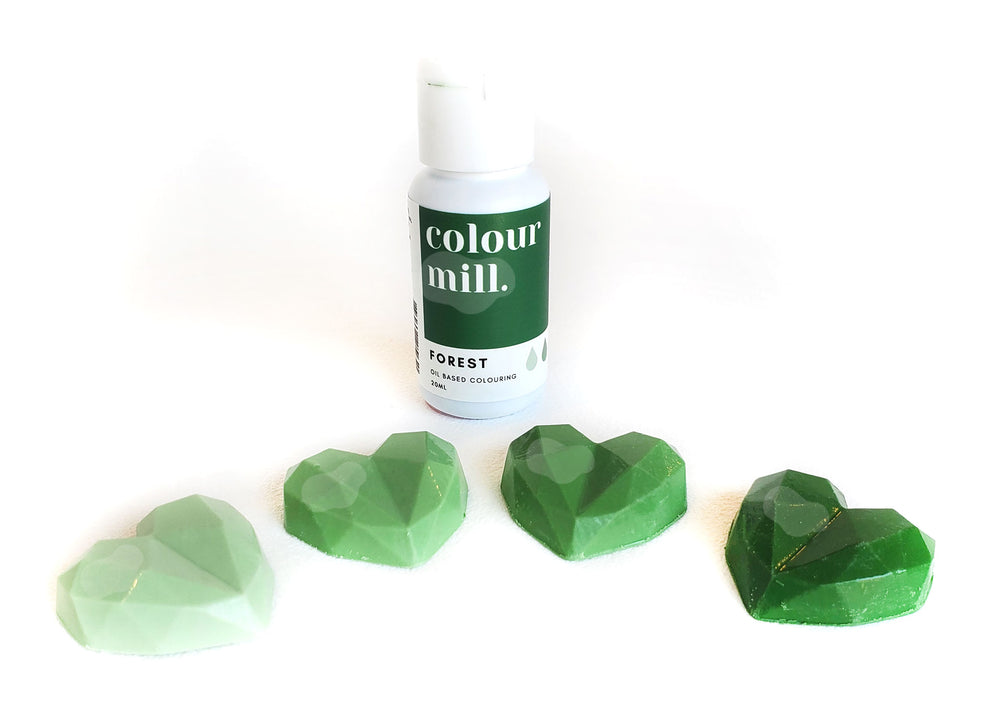 Forest green gel food colouring - Colour Mill Canada | Corante em gel para chocolate - Verde