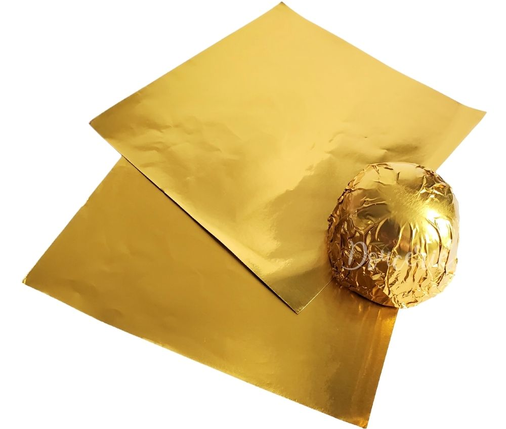 Confectionery Candy Chocolate Foil Wrapper - GOLD - Papel Chumbo para Bombom - OURO DOURADO | Doucerie Canada