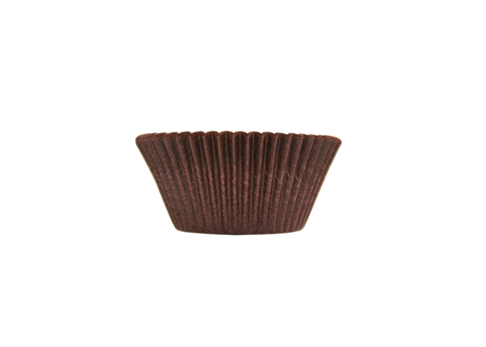 Cupcake baking cups, easy peel - Brown - 57 pcs | Ultrafest